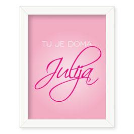 "Individualizirana dekliška grafika z imenom ""Julija"""