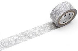 Washi lepilni trak - Pure bachelors button stone/linen