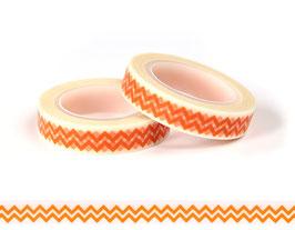 Washi lepilni trak - ozek oranžen cik-cak vzorec