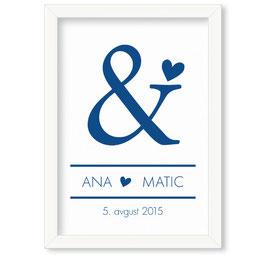 """Individualizirana grafika ob poroki """"Ana & Matic"""""""