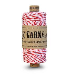Bombažna dekorativna vrvica garn - rdeče-bela