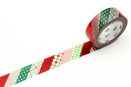 Washi lepilni trak - Christmas stripe