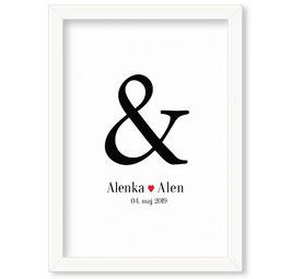 """Individualizirana grafika ob poroki """"Alenka & Alen"""""""
