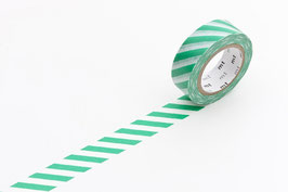 Washi lepilni trak - stripe green