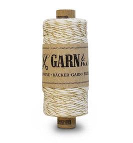 Dekorativna vrvica garn - zlato-bela
