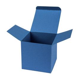 Darilna škatlica - Cube M - v temno modri barvi / saphire
