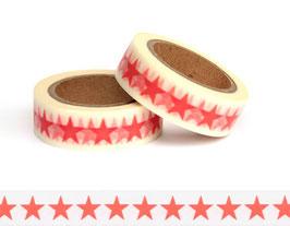Washi lepilni trak - rdeče zvezde