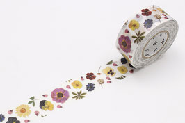 Washi lepilni trak - PRESSED FLOWER