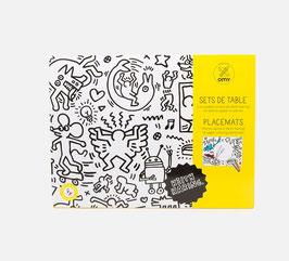 Blok s 24 listi - pobarvanka / pogrinjek Keith Haring