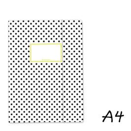 Mapa A4 - bela s črnimi pikicami