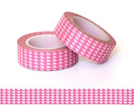 Washi lepilni trak - roza pepita vzorec