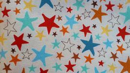 bunte Sterne & Eiskönigin (ohne Bild) Mund- & Nasenmaske (Behelfsmaske) - für unsere Kleinen (höherwertigere Stoff)