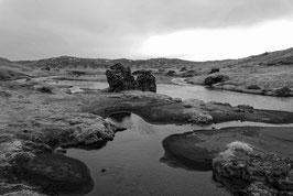 Seeland in schwarz-weiß