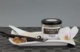 Brauner Vanillekandis 100g im Glas (Inhalt: Kandis, Vanille)