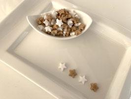 Weihnachtszucker Mini-Sterne  90 g im Beutel.