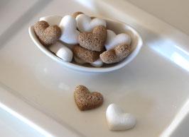 Zuckerherzen und Rohrzuckerherzen 50 Stück im Beutel