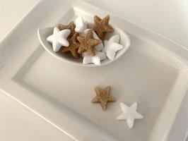 Weihnachtszucker Sterne Rohrzucker und Zucker, 50 Stück im Beutel