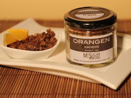 Brauner Orangenkandis 100g im Glas (Inhalt: Kandis, Bio-Orangenschale)