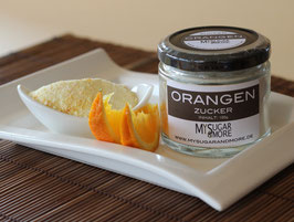 Orangenzucker 100g im Glas (Inhalt: Zucker, Bio-Orangenschale)