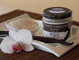 Tahiti-Vanillezucker 80g im Glas (Inhalt: Zucker, Tahitivanille)