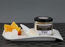 Weißer Orangenkandis 100g im Glas (Inhalt: Kandis, Bio-Orangenschale)