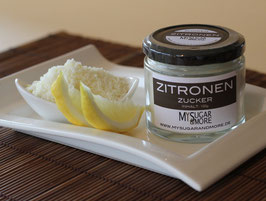 Zitronenzucker 100g im Glas (Inhalt: Zucker, Bio-Zitronenschale)