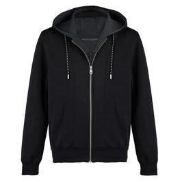 Schwarzes PHC Sport Hooded Sweatshirt mit Reissverschluss