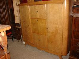 Cabinet de travail en Sycomore Ondé époque Art Déco