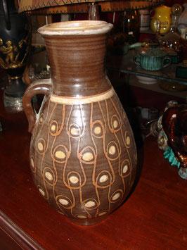 Vase en céramique 1950 signé J.Y