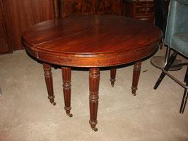 Table à bandeau Louis Philippe en acajou de cuba.