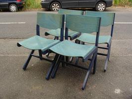 Série de 4 chaises Baumann vers 1960