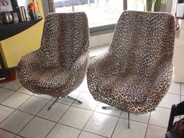 Paire de fauteuils oeuf 1973