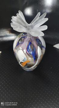 flacon artistique en cristal soufflé à la canne