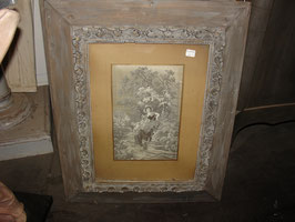 Paire de tableaux broderie sur soie de la fin du XIX siècle