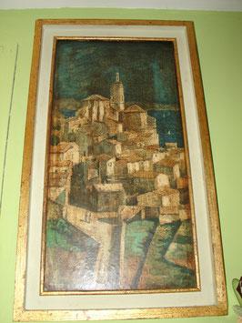 Tableau Huile sur bois de Michel BRION 'Cadaques'