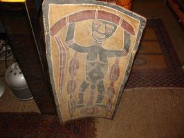 Peinture sur écorse de bois aborigène Australie