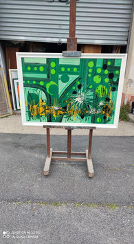 tableau abstraction plantes