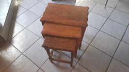 tables gigognes en palissandre massif