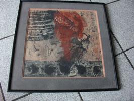Tableau gouache sur papier abstrait vers 1960