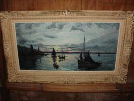 Clair obscur sur la mer signé R.PERROT