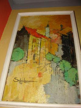 Tableau de Renée SEBELANCON 1987 rue LAPOYAT