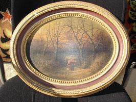 Tableau huile sur bois  de Jeanne Marie CHENU 1874