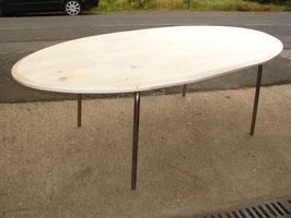 Table de salle à manger en forme d'ellipse
