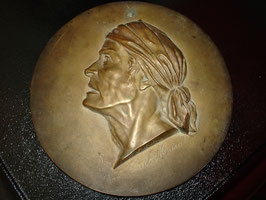 Plaque médaillon en bronze Paul MARAT vers 1900