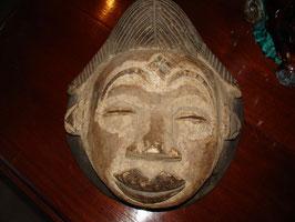 Masque en bois Africain PUNU