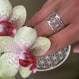Bague anneau - Fleur de Vie - en Argent 925