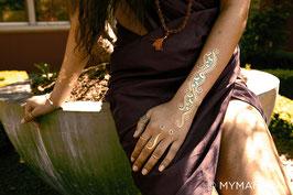 """Tatouages - ésotérique - énergie - doré """"Indian Henna"""""""