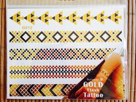 TATOUAGES DORE  EPHEMERES - bracelets dorés/noirs