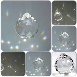 Sphère de cristal arc en ciel Feng Shui - différents diamètres
