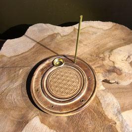 Brûle encens Fleur de Vie bâtons/cônes bois